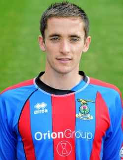 Caley Thistle player, Nick Ross. Former Charleston Academy pupil.
