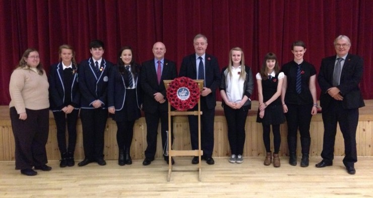 Provost Alex Graham, Callum Mackintosh (Area Education Manager) and Cllr Graham Ross joined Torridon House for their Remembrance Assembly on Friday