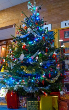 Our 15ft Tree in the Foyer