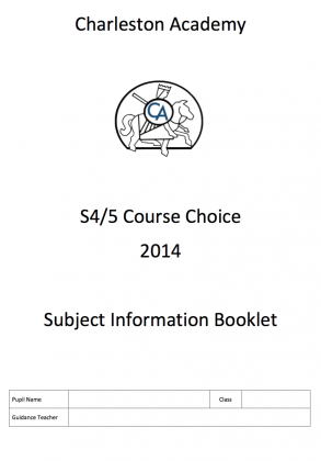 S4/5 Course Choice Booklet