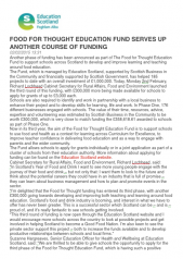 Education Scotland Food for Though Press Release
